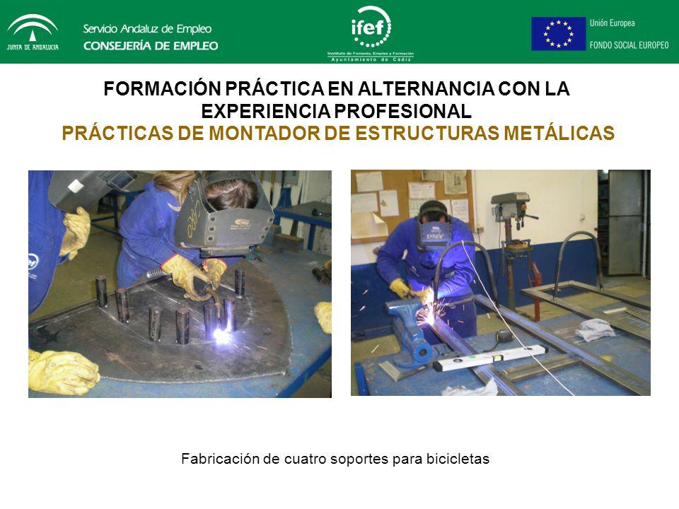 FORMACIÓN PRÁCTICA EN ALTERNANCIA CON LA EXPERIENCIA PROFESIONAL PRÁCTICAS DE MONTADOR DE ESTRUCTURAS METÁLICAS Fabricación de diez calibres para medi