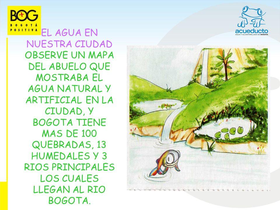 LOS RIOS DE BOGOTA EN EL MAPA QUE ENCONTRE EN EL BAUL DEL ABUELO, OBSERVE QUE A NUESTRA CIUDAD LA ATRAVIEZAN CUATRO GRANDES RIOS LLAMADOS: TUNJUELITO, FUCHA, SALITRE Y RIO BOGOTA.