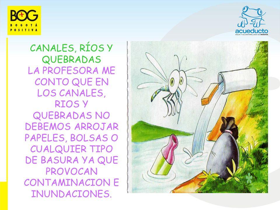 EN LAS RONDAS DE CANALES, RIOS, QUEBRADAS Y HUMEDALES MI COMPAÑERO PACO ME CONTO QUE SU TIO RELLENO Y CONSTRUYO EN LA RONDA DE UN CANAL, EL Río SE DESBORDO Y EL PERDIO TODOS SUS BIENES, POR ESO SE DEBE EVITAR CONSTRUIR EN LAS RONDAS DE LOS CUERPOS DE AGUA Y ASÍ TODOS PODEMOS DISFRUTARLOS Y EVITAMOS POSIBLES EMERGENCIAS.