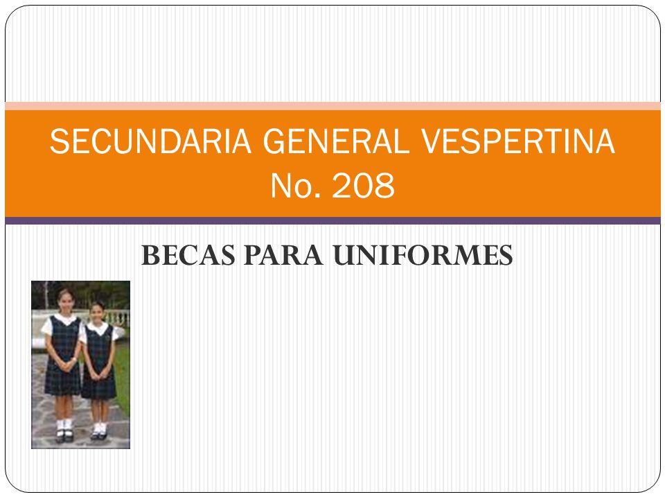Las becas uniformes que entrega el Departamento de secundaria, hace la entrega a través de la zona escolar.