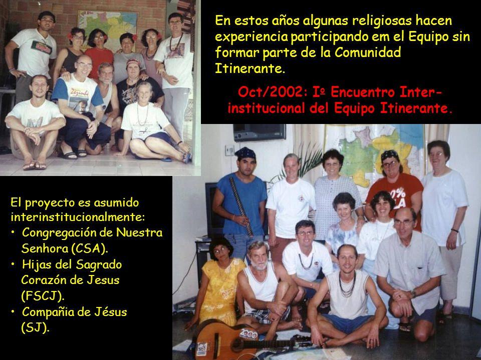El proyecto es asumido interinstitucionalmente: Congregación de Nuestra Senhora (CSA). Hijas del Sagrado Corazón de Jesus (FSCJ). Compañia de Jésus (S