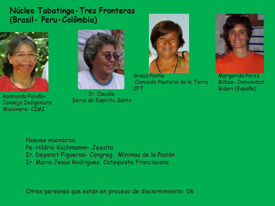Graça Penha Comisión Pastoral de la Terra CPT Núcleo Tabatinga-Tres Fronteras (Brasil- Peru-Colômbia) Raimunda Paixão- Consejo Indigenista Misionero-