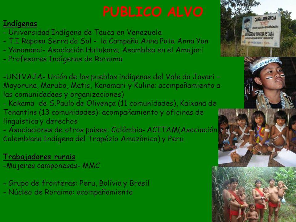 Indígenas - Universidad Indígena de Tauca en Venezuela - T.I Raposa Serra do Sol - la Campaña Anna Pata Anna Yan - Yanomami- Asociación Hutukara; Asam
