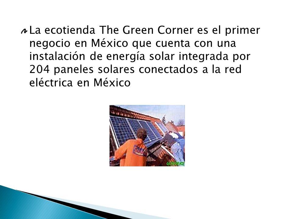La ecotienda The Green Corner es el primer negocio en México que cuenta con una instalación de energía solar integrada por 204 paneles solares conecta