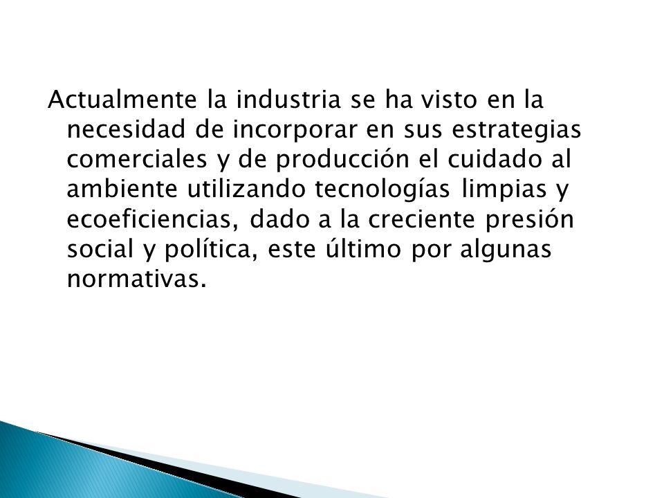 La industria no solo depende de el factor tecnológico, sino también de los factores sociales, económicos y políticos para lograr la más adecuada incorporación de la sustentabilidad a la misma.