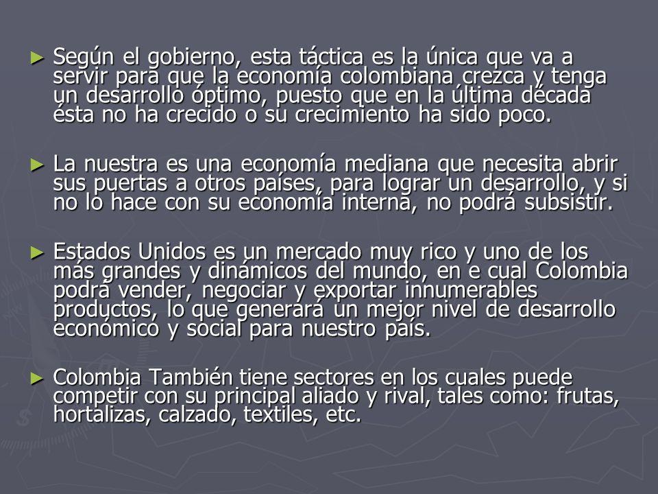 Según el gobierno, esta táctica es la única que va a servir para que la economía colombiana crezca y tenga un desarrollo óptimo, puesto que en la últi