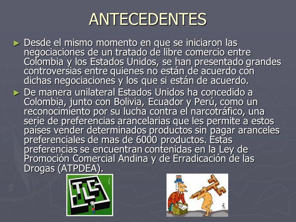 En agosto de 2002 se creó el Atpdea (Acuerdo de Promoción Comercial Andino y Erradicación de Drogas), renovando y ampliando las preferencias arancelarias concedidas a los países andinos por el Atpa.