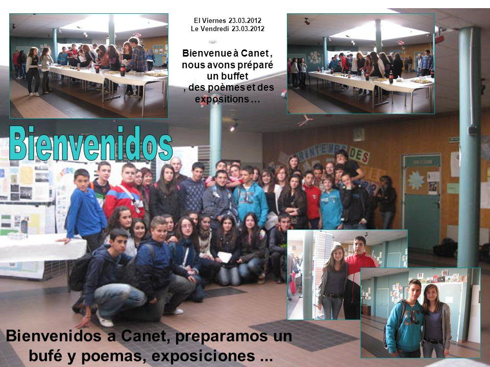 Bienvenidos a Canet, preparamos un bufé y poemas, exposiciones...