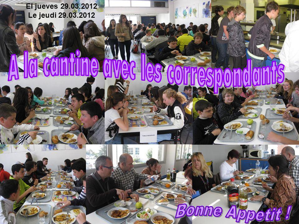 El jueves 29.03.2012 Le jeudi 29.03.2012