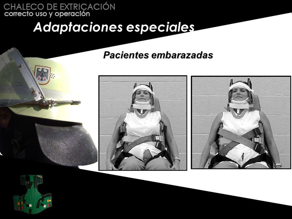 Adaptaciones especiales Pacientes embarazadas