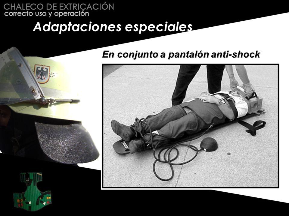 Adaptaciones especiales En conjunto a pantalón anti-shock