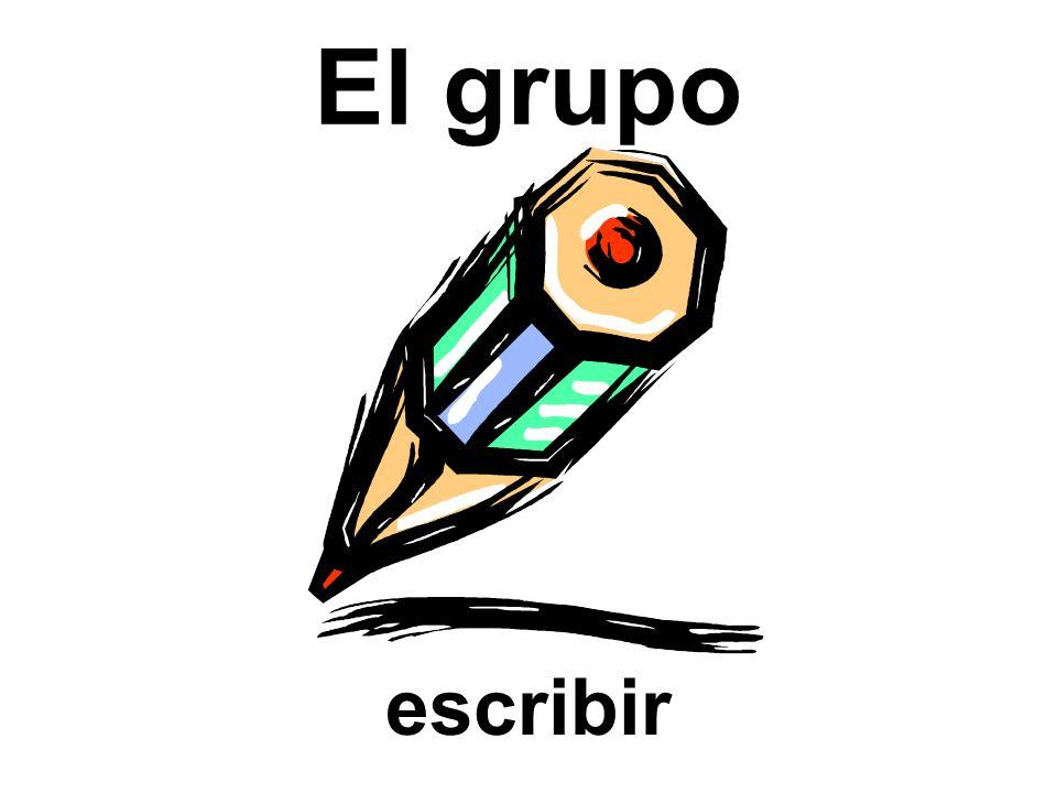 El grupo escribir