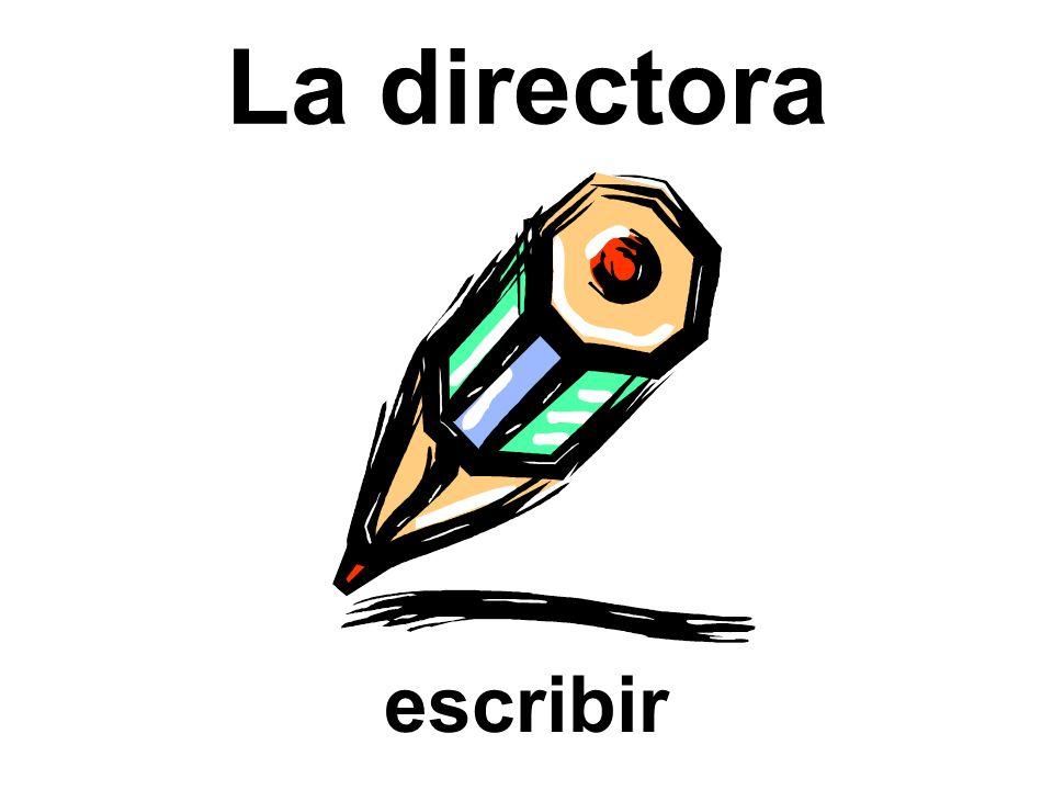 La directora escribir