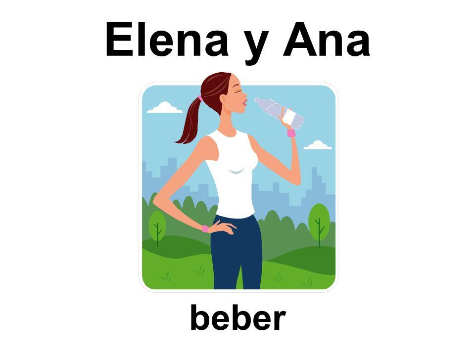 Elena y Ana beber