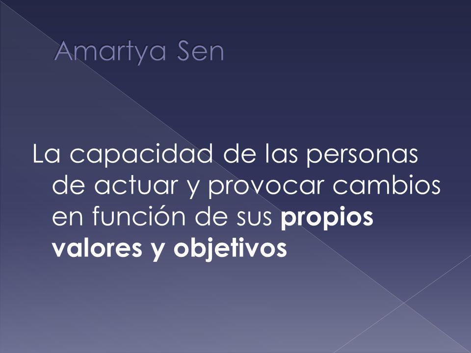 El desarrollo humano depende de la libre agencia de los individuos.