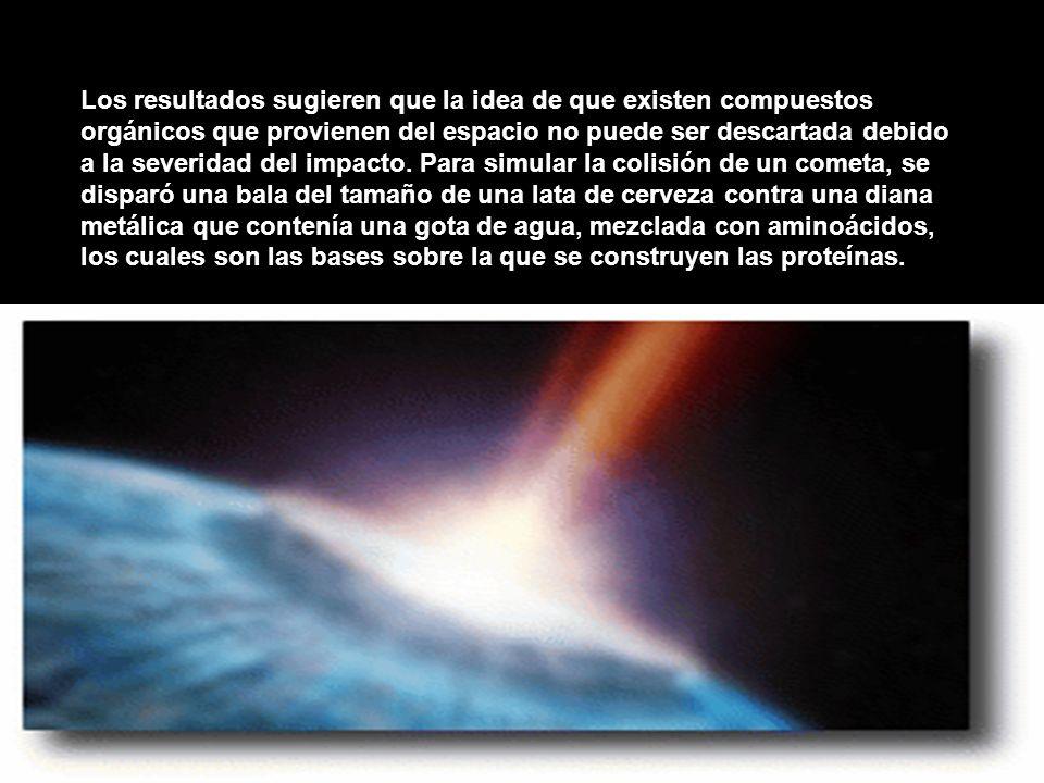Los resultados sugieren que la idea de que existen compuestos orgánicos que provienen del espacio no puede ser descartada debido a la severidad del im