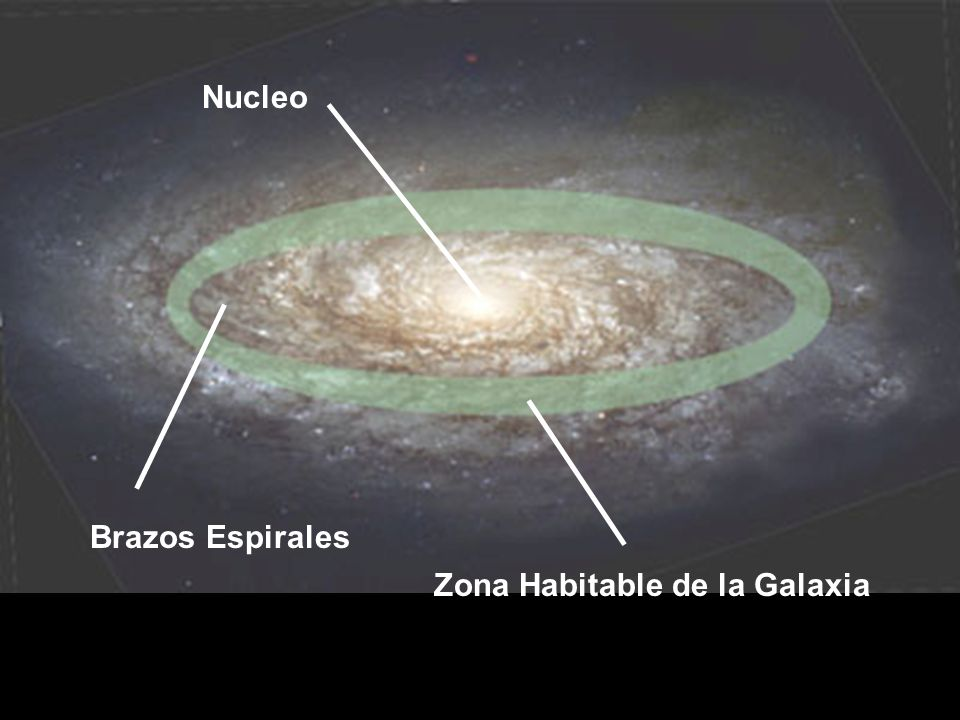 Zona Habitable de la Galaxia Nucleo Brazos Espirales