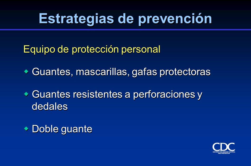 Equipo de protección personal Guantes, mascarillas, gafas protectoras Guantes resistentes a perforaciones y dedales Doble guante Equipo de protección