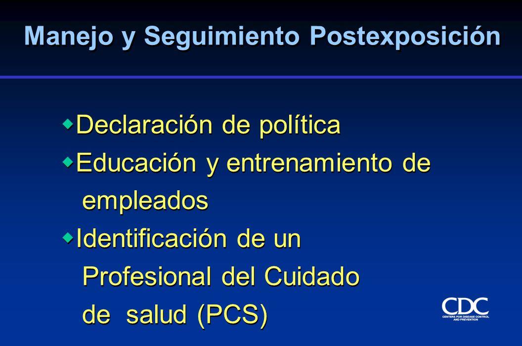 Declaración de política Educación y entrenamiento de empleados Identificación de un Profesional del Cuidado de salud (PCS) Declaración de política Edu