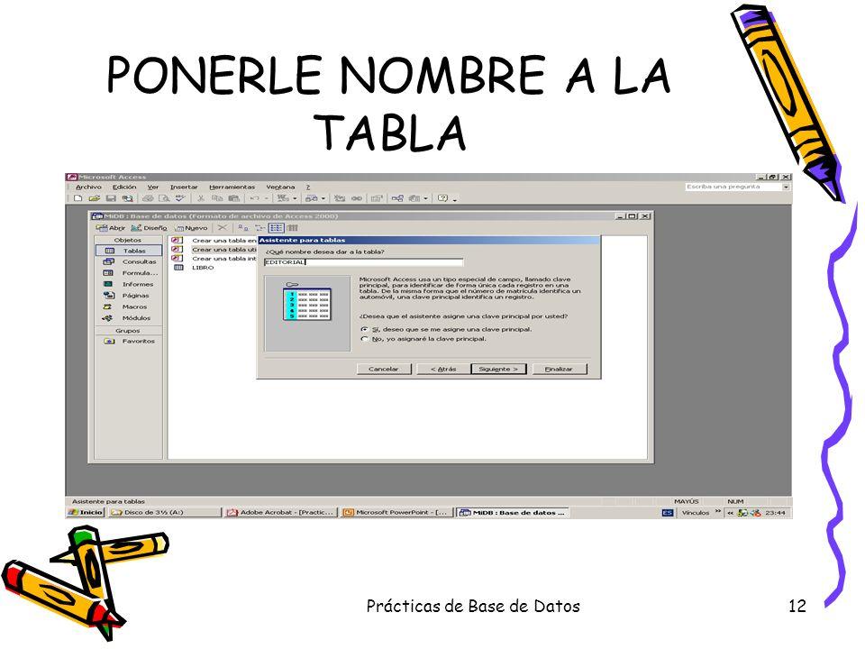 Prácticas de Base de Datos12 PONERLE NOMBRE A LA TABLA