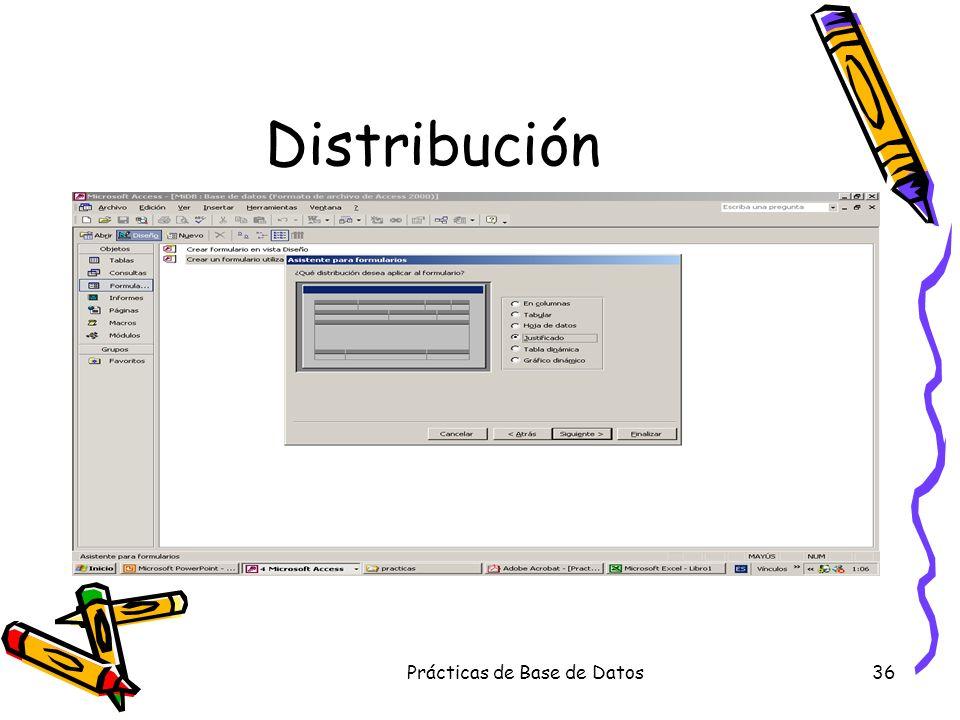 Prácticas de Base de Datos36 Distribución