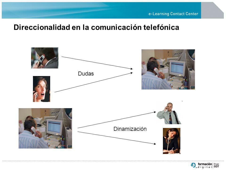 Direccionalidad en la comunicación telefónica Dudas Dinamización