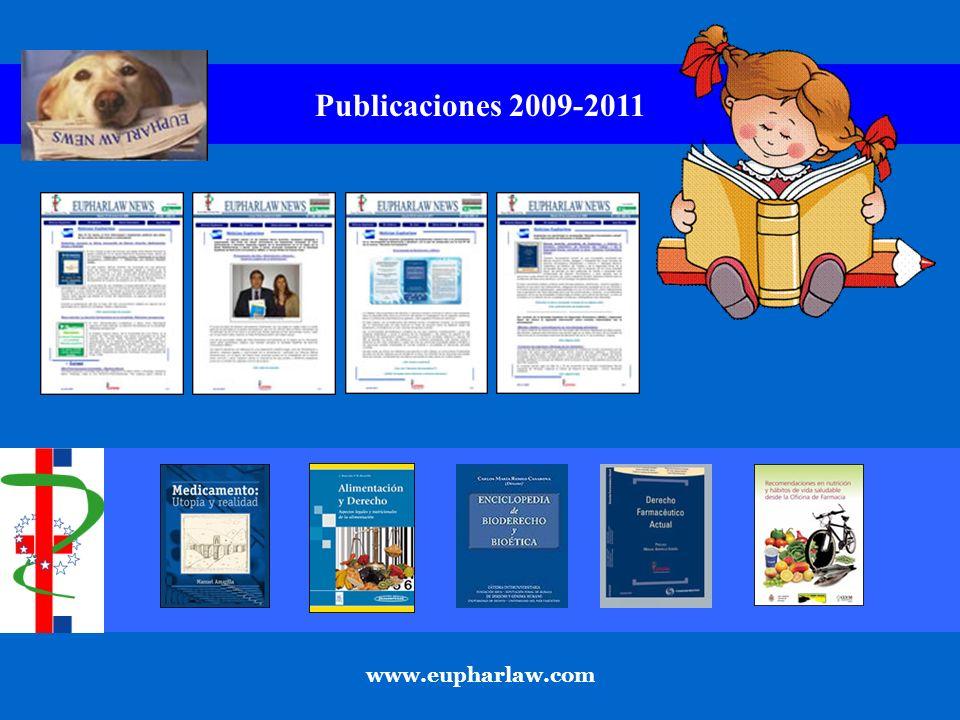 Publicaciones 2009-2011 www.eupharlaw.com