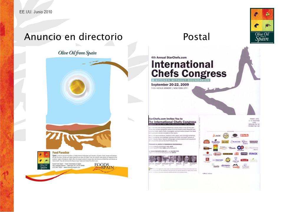 EE.UU. Junio 2010 Anuncio en directorio Postal