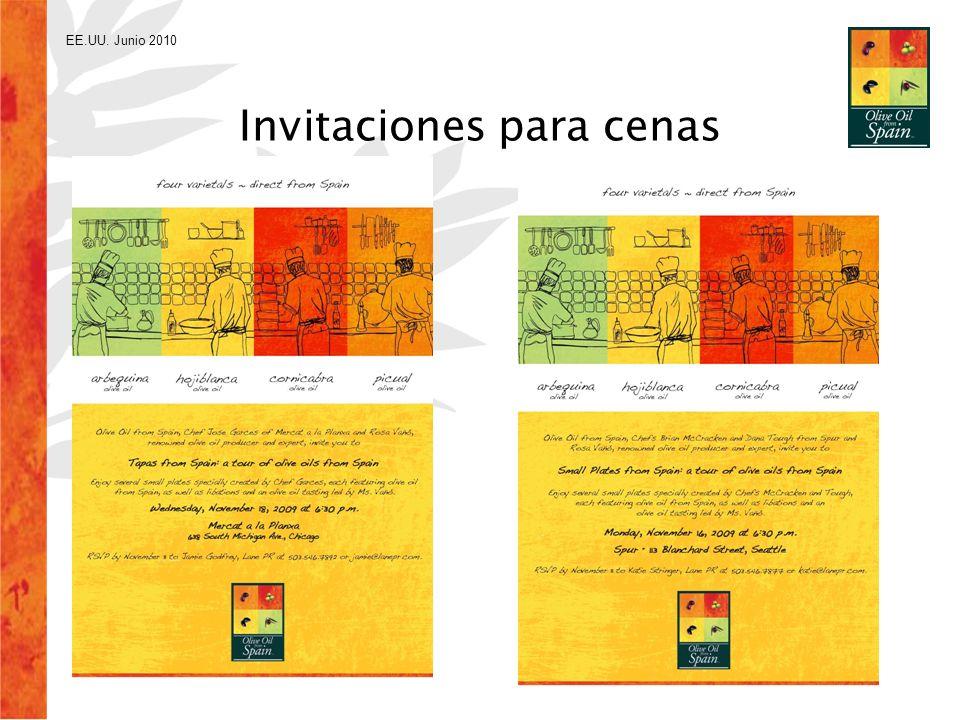 EE.UU. Junio 2010 Invitaciones para cenas
