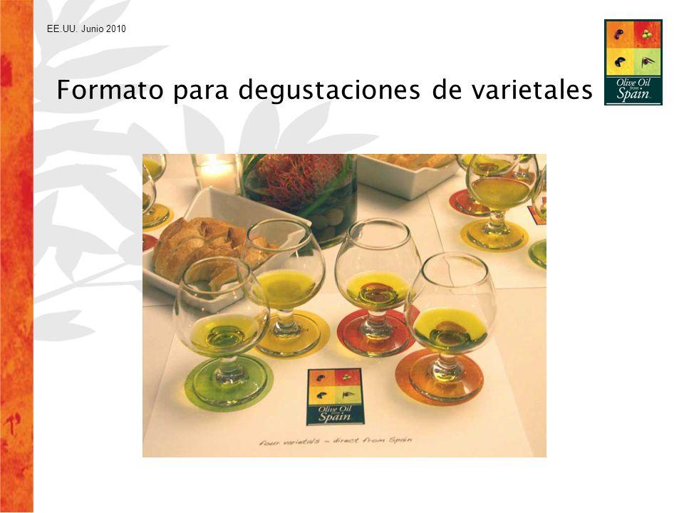 EE.UU. Junio 2010 Formato para degustaciones de varietales