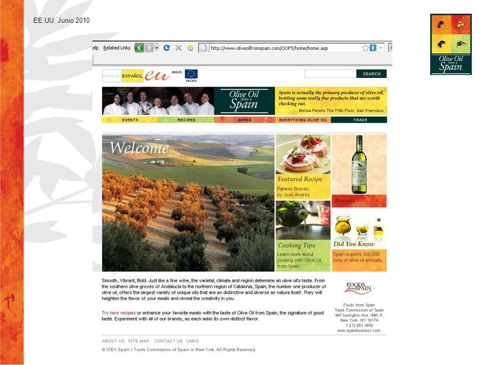 Imán con dirección de sitio web se distribuye en eventos Velero con mapa de zonas de producción de aceite de oliva