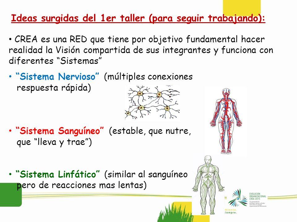 CREA es una RED que tiene por objetivo fundamental hacer realidad la Visión compartida de sus integrantes y funciona con diferentes Sistemas Sistema N