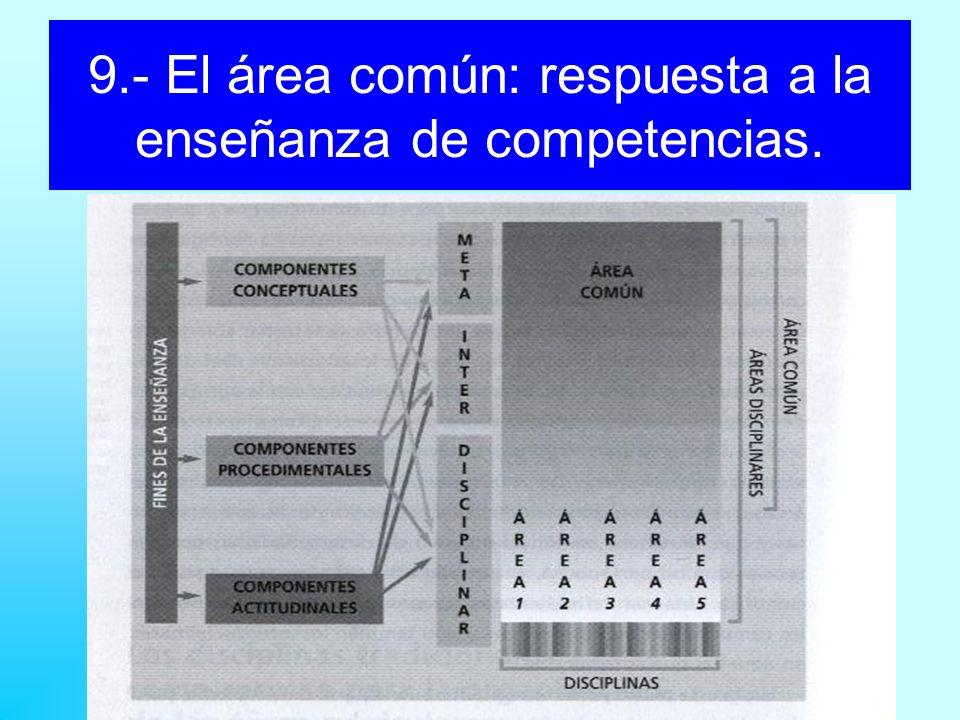 9.- El área común: respuesta a la enseñanza de competencias.