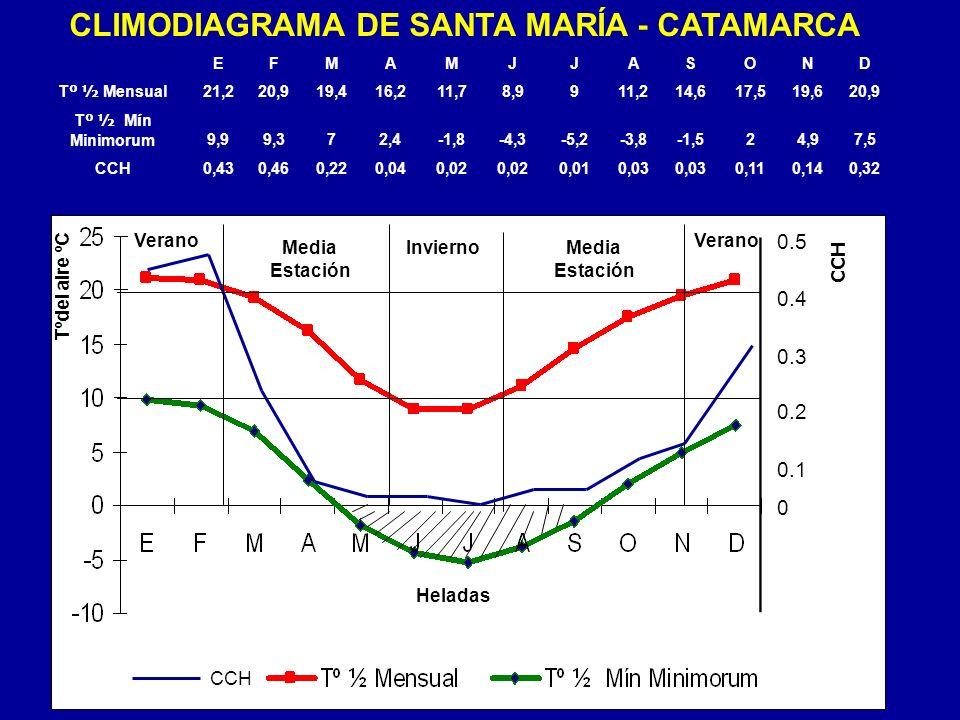0.5 0.4 0.3 0.2 0.1 0 EFMA MJ JASOND T º ½ Mensual 21,220,919,416,211,78,9911,214,617,519,620,9 T º ½ M í n Minimorum9,99,372,4-1,8-4,3-5,2-3,8-1,524,
