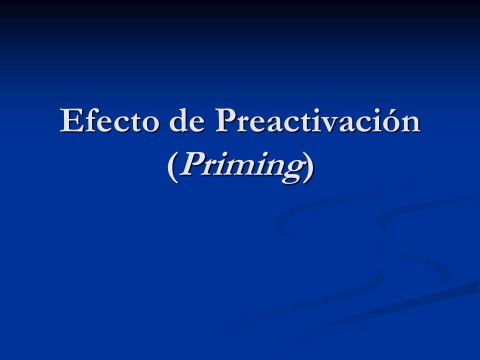 Efecto de Preactivación (Priming)