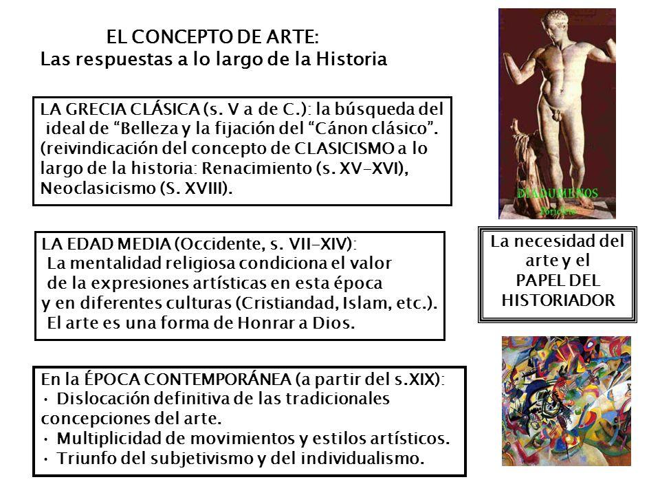 LA GRECIA CLÁSICA (s. V a de C.): la búsqueda del ideal de Belleza y la fijación del Cánon clásico. (reivindicación del concepto de CLASICISMO a lo la
