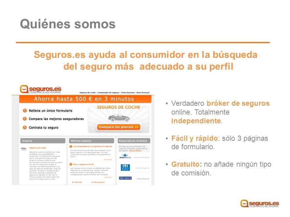 Seguros.es ayuda al consumidor en la búsqueda del seguro más adecuado a su perfil Verdadero bróker de seguros online.