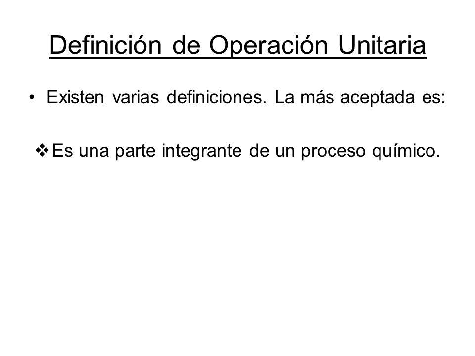 ¿Cuántas Operaciones Unitarias existen.Entre 25 y 30 Operaciones.