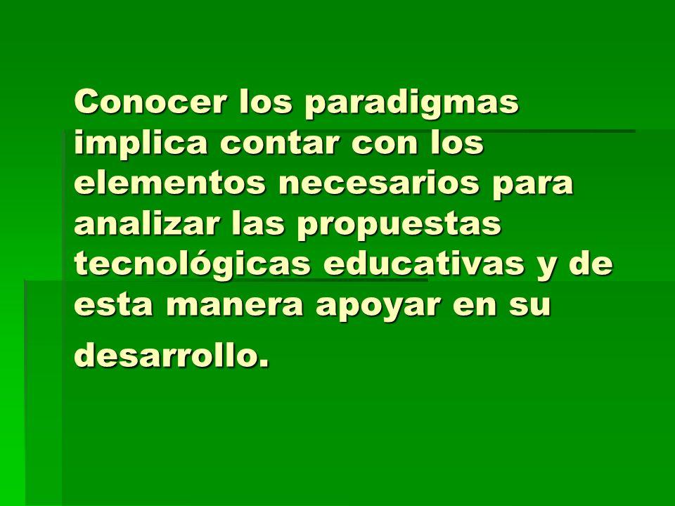 Paradigmas que han permeado en la Educación Distribuida a lo largo de su evolución. Naturaleza de su discurso teórico-práctico, tipo de planteamiento