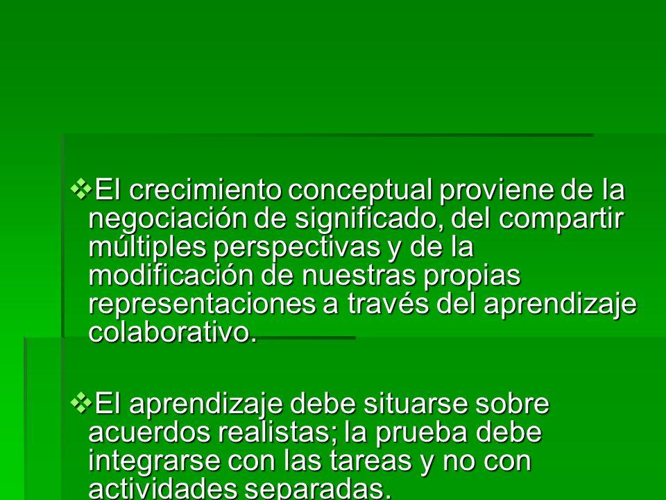 Suposiciones del Constructivismo de Cerril El conocimiento se construye a partir de la experiencia. El conocimiento se construye a partir de la experi