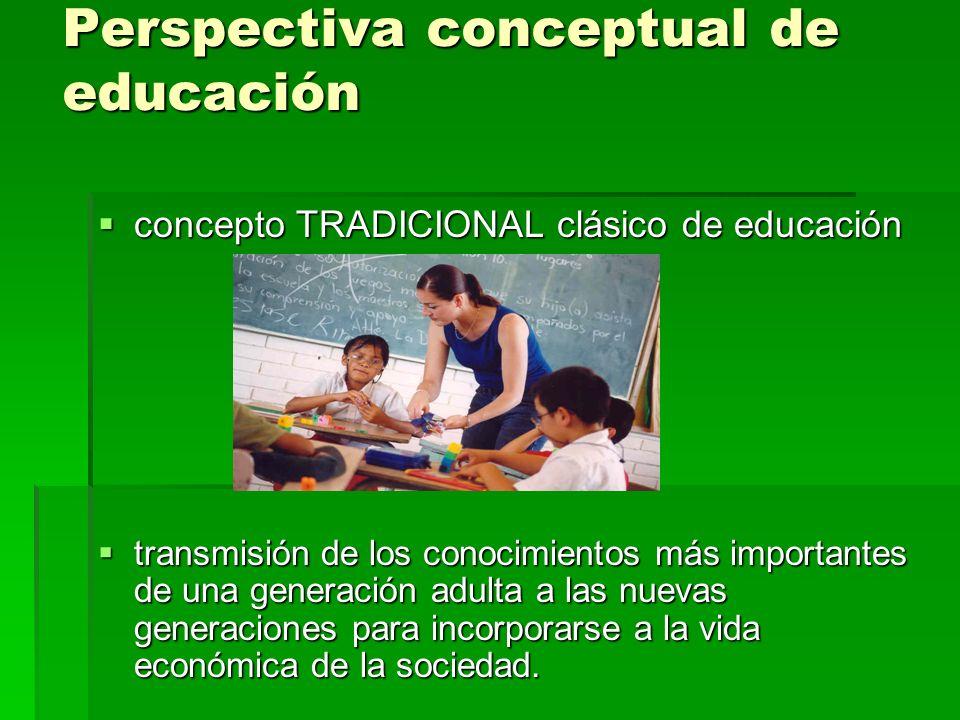 Tipos de educación existentes