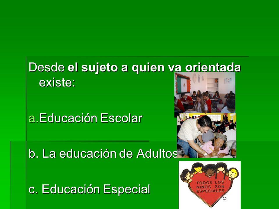 La educación para el siglo XXI Diversas perspectivas Desde la administración de los servicios educativos Educación Formal Educación Formal Educación n