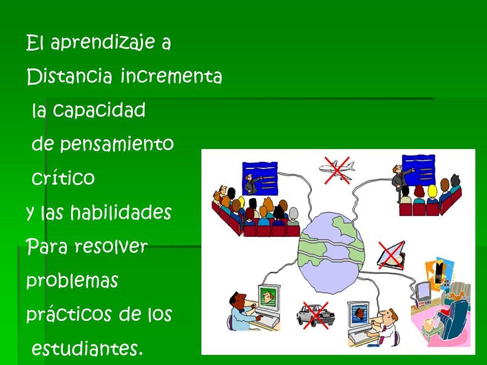1.4.3 Ventajas del aprendizaje a distancia El beneficio más evidente de la educación distribuida reside en que brinda a estudiantes y facilitadores mu