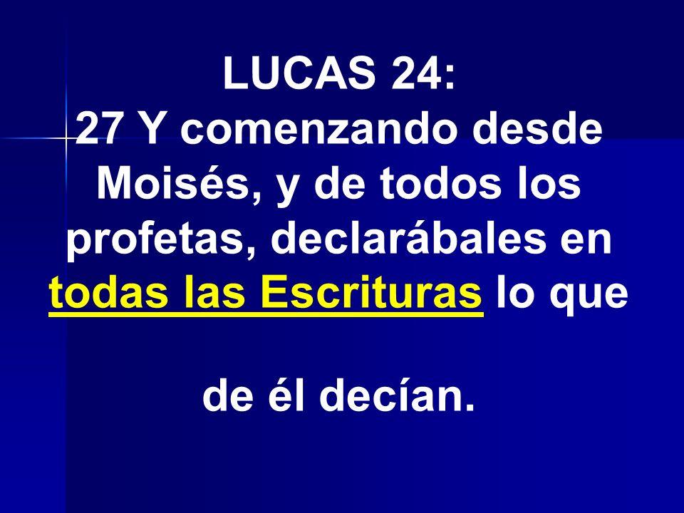 Lucas 24 44 Y él les dijo: Estas son las palabras que os hablé, estando aún con vosotros: que era necesario que se cumpliesen todas las cosas que están escritas de mí en la ley de Moisés, y en los profetas, y en los salmos.