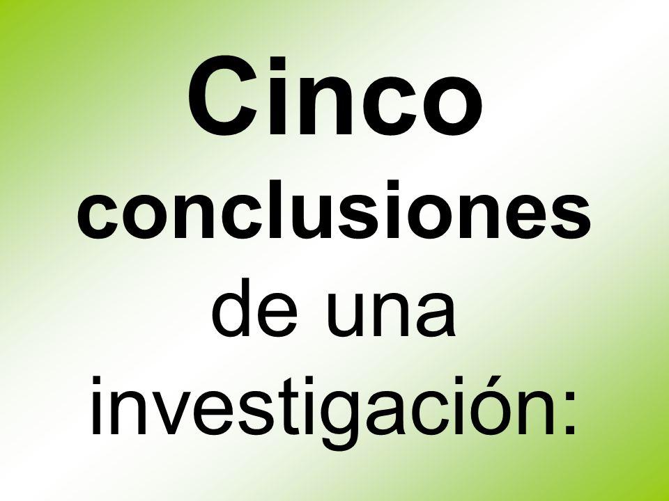 Cinco conclusiones de una investigación: