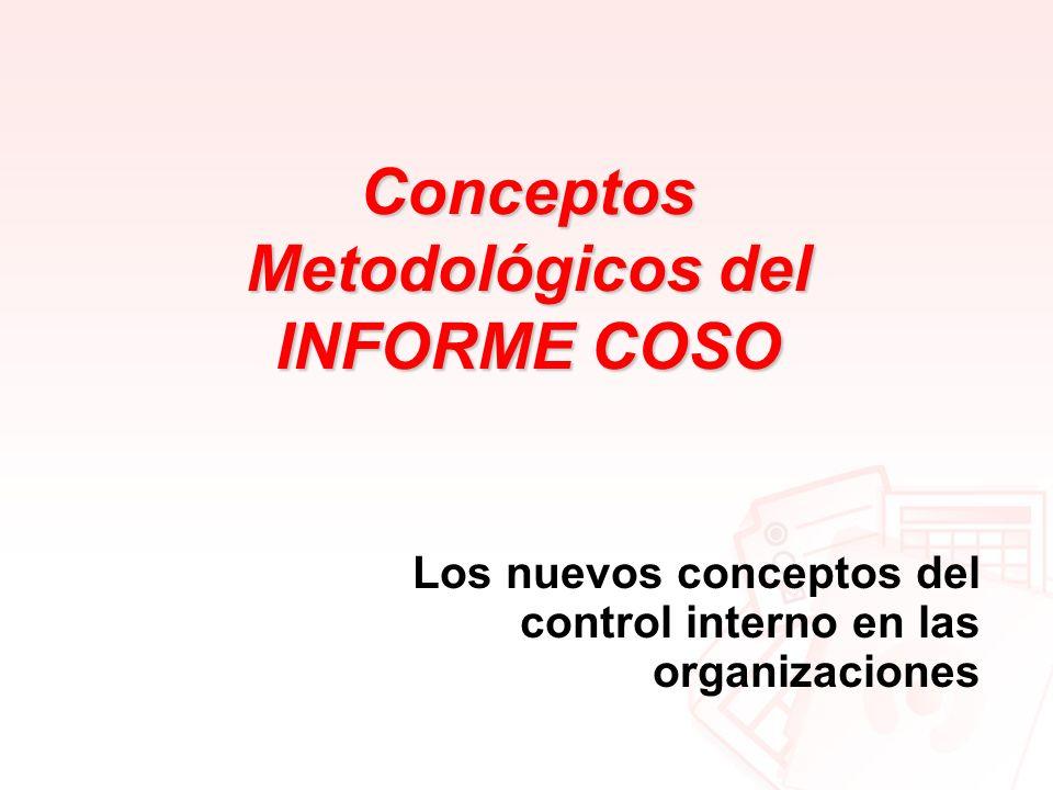 Conceptos Metodológicos del INFORME COSO Los nuevos conceptos del control interno en las organizaciones