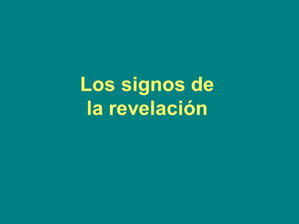 Los signos de la revelación