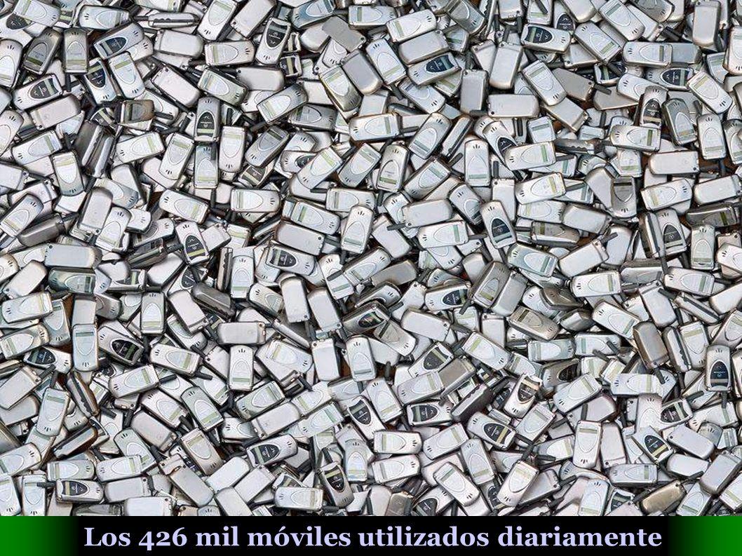 Los 426 mil móviles utilizados diariamente