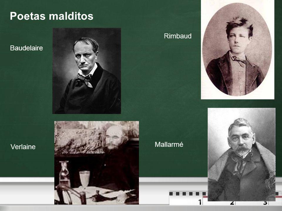 Poetas malditos Baudelaire Rimbaud Verlaine Mallarmé