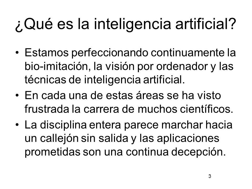 ¿Qué es la inteligencia artificial.